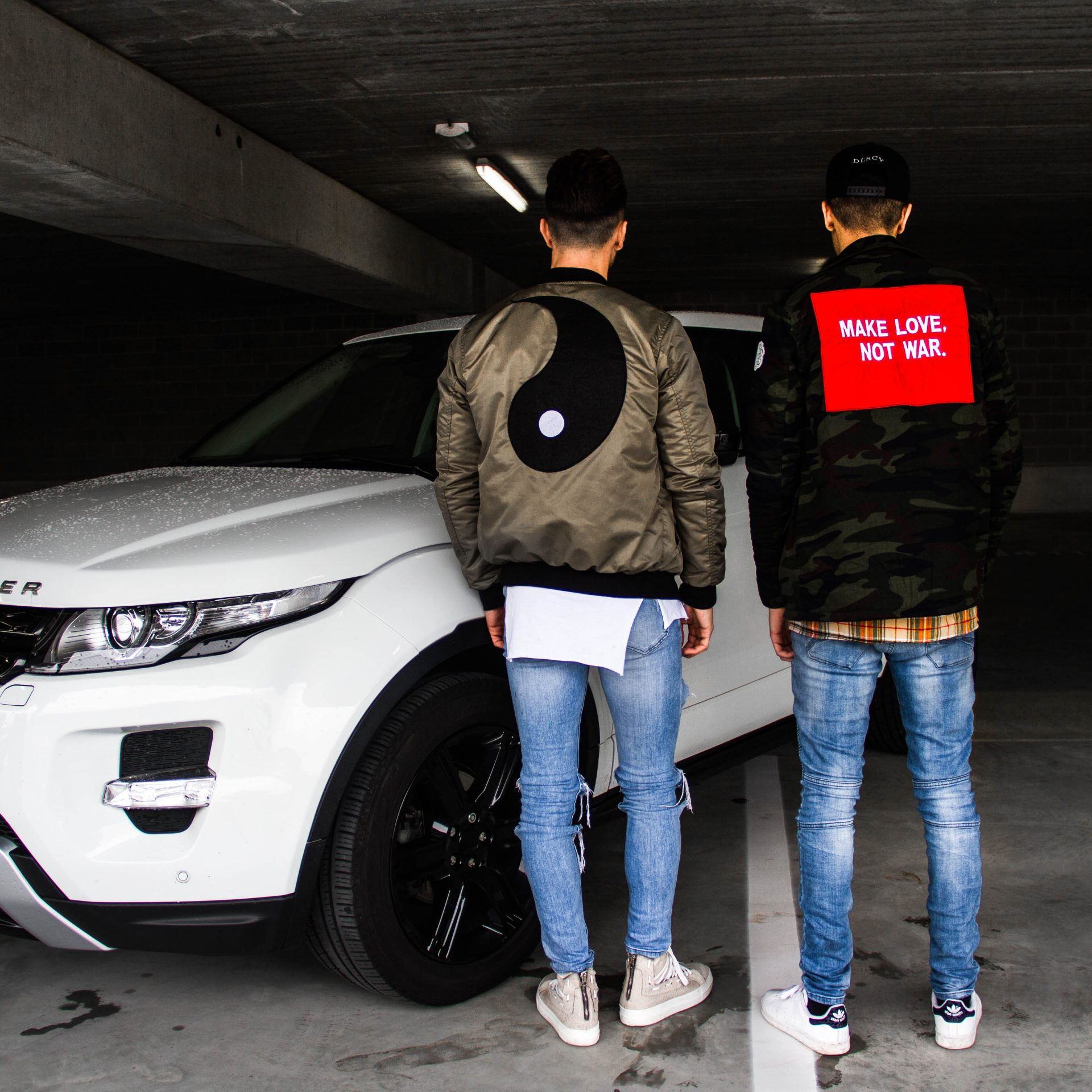 Yin Yang Bomber Jacket Men