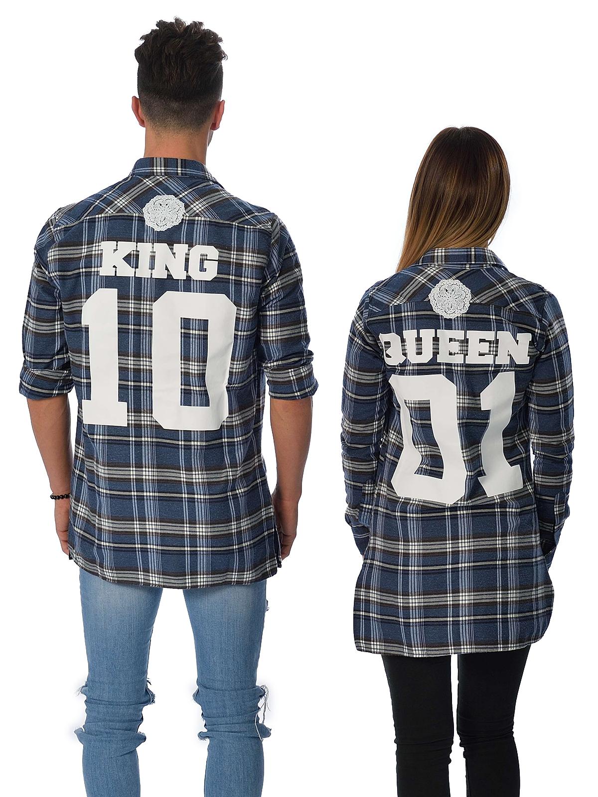 King X Queen Blue Shirt