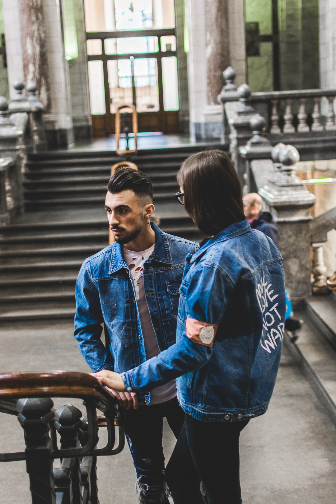 Make Love Not War Jeans Couple Jackets