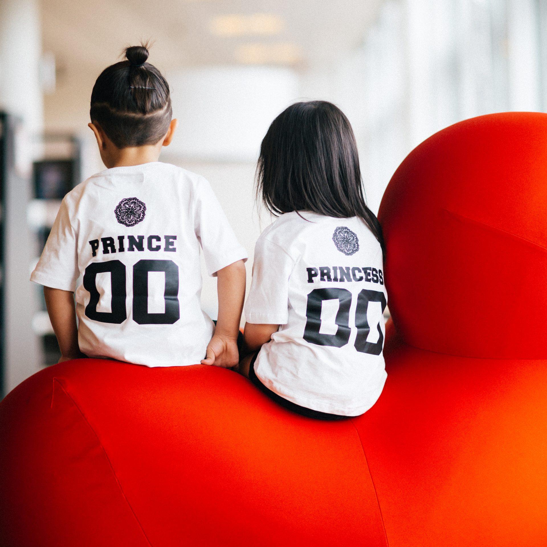 Prince & Princess Kids Couple T-Shirts White