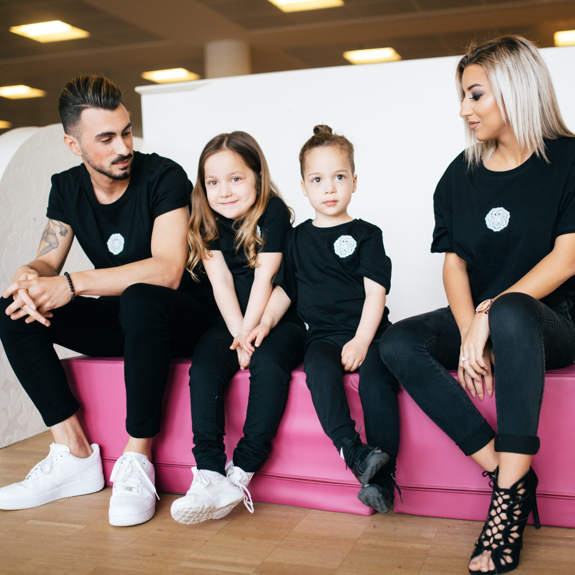 Prince & Princess Kids Couple T-Shirts Black