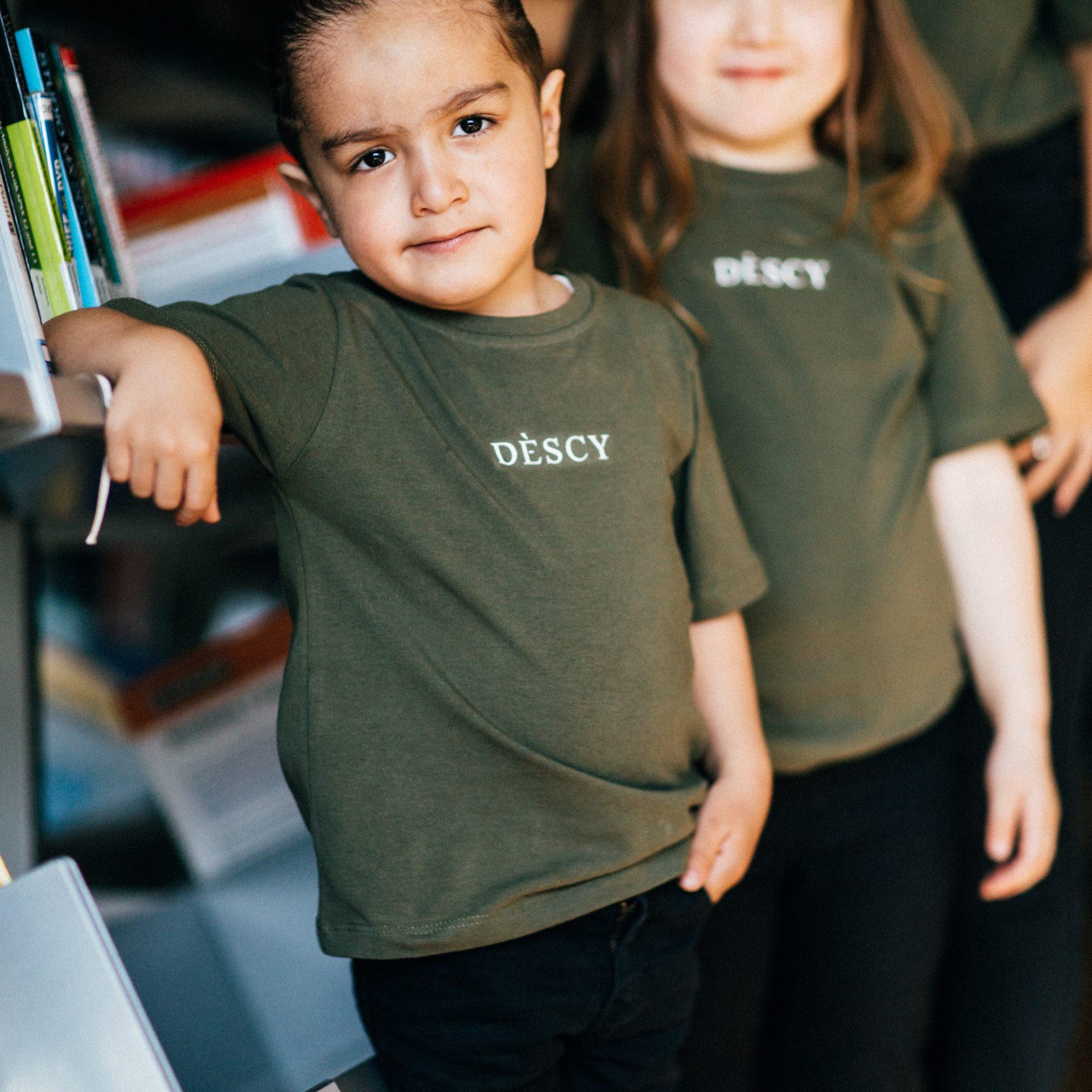 Khaki Kids Couple T-Shirts