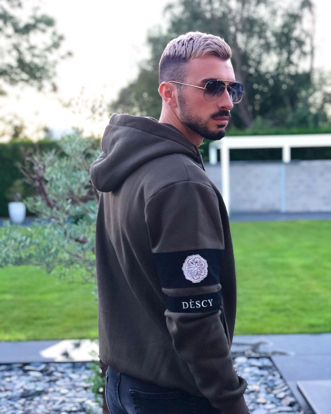 Zipper Vest Hoodie Grey Melange Unisex