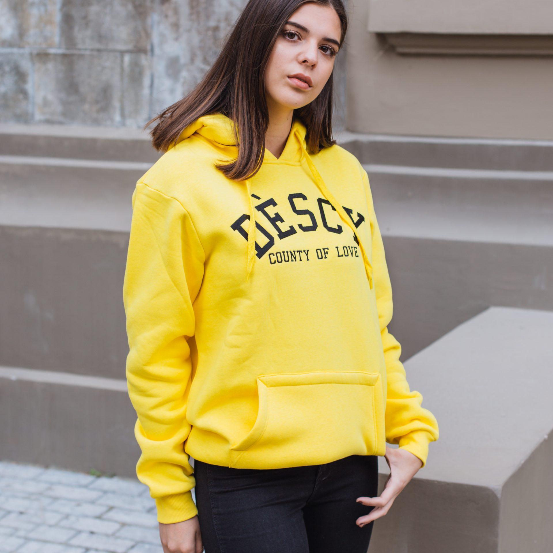 County Of Love Hoodie Yellow Unisex