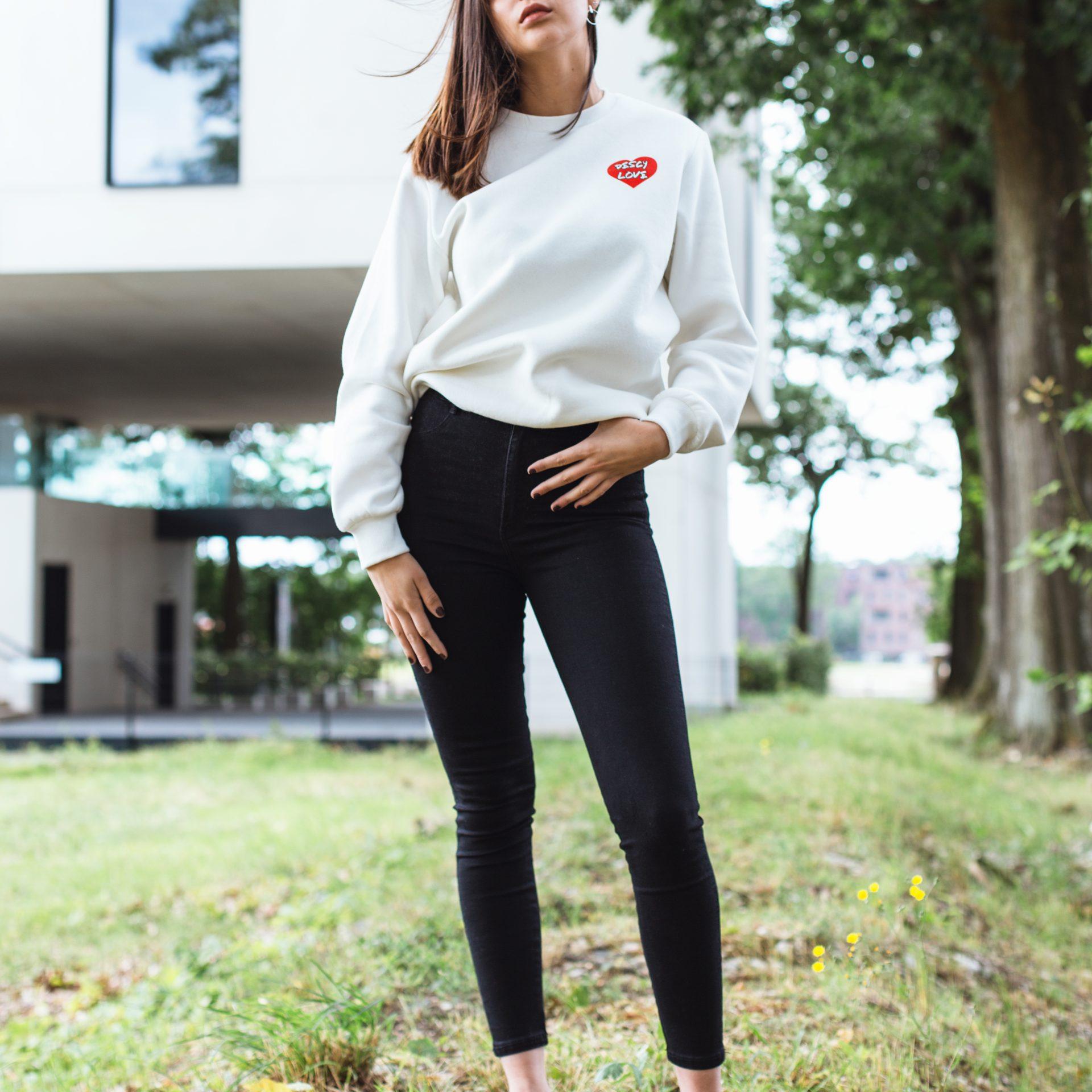 DESCY Love Sweater Off White Unisex