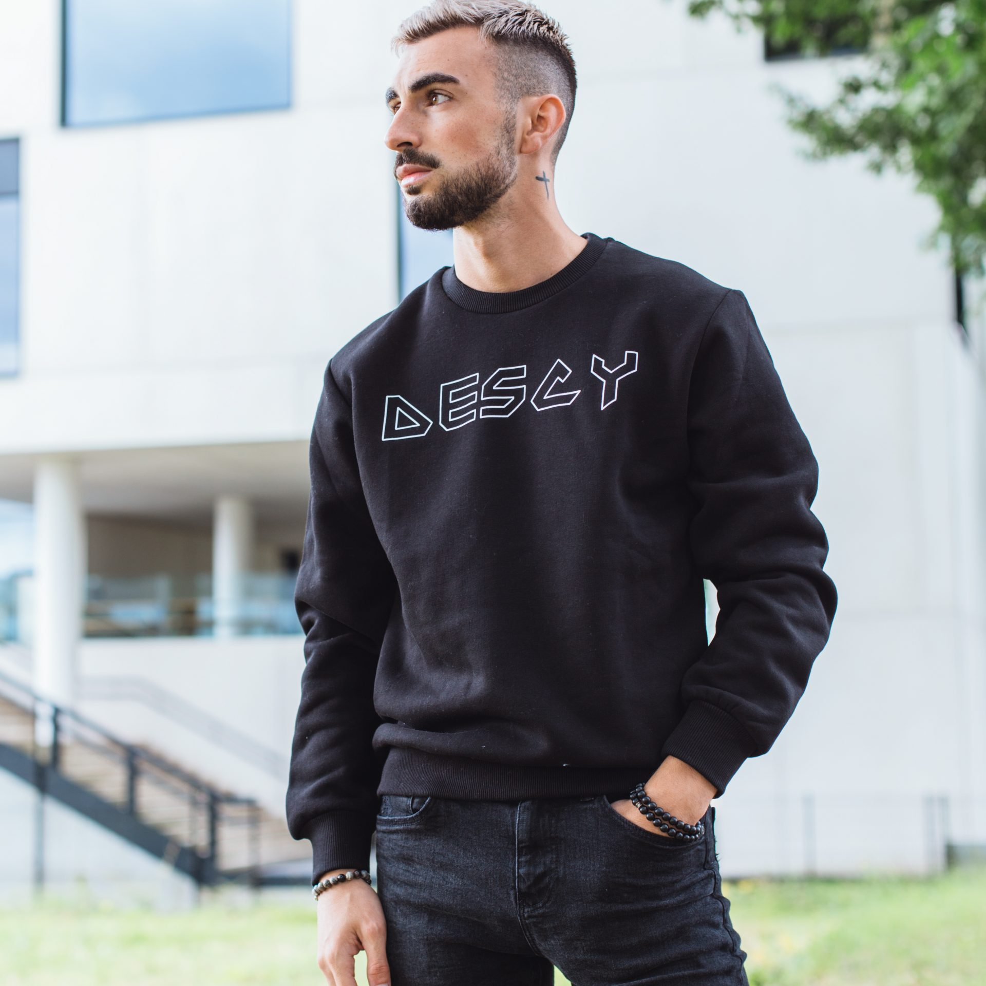 DESCY Iron Logo Sweater Black Unisex