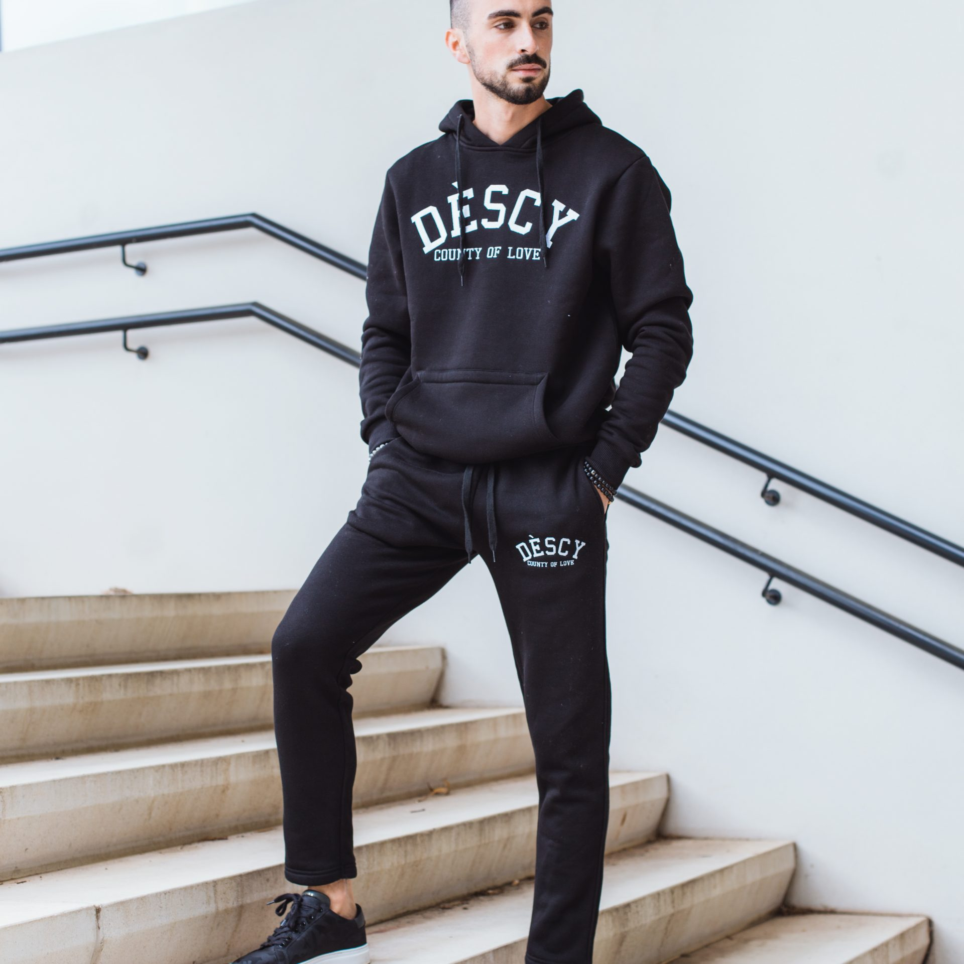 DESCY College Tracksuit Black Unisex
