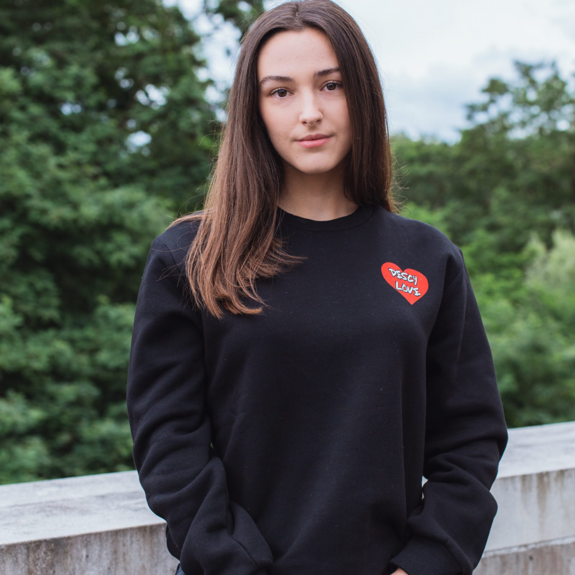 DESCY Love Sweater Black Unisex